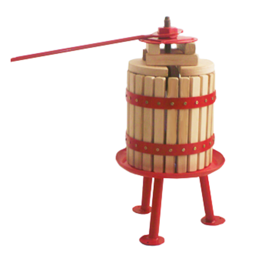 Fruit press - 8 litre - red
