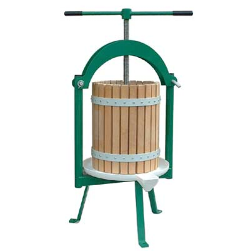 Cross beam fruit press tpc20 20 litre fruit press for Home wine press