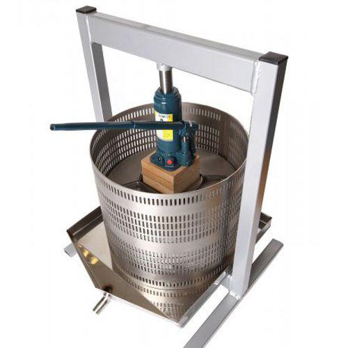 Hydraulic jack press vah50 50 litre fruit press apple for Home wine press