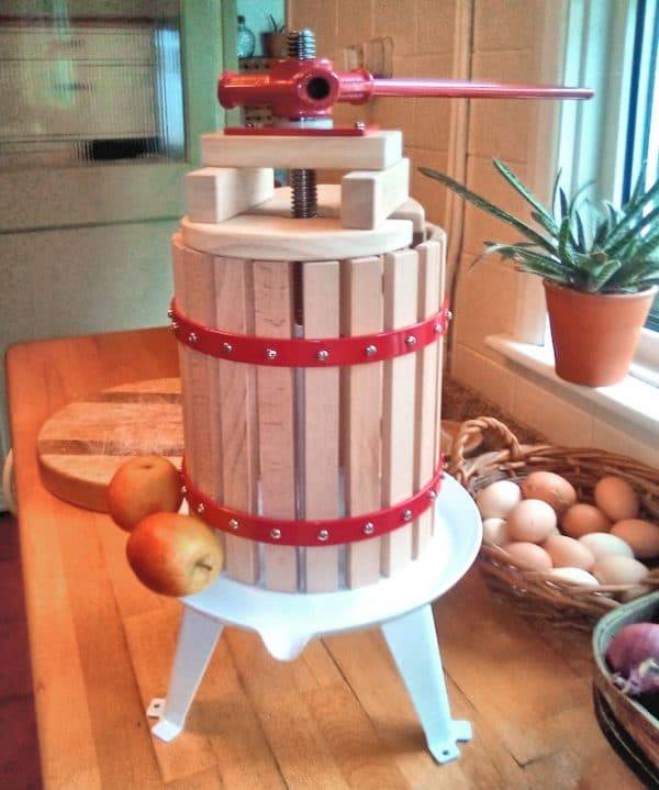 6 litre small fruit press for apples, pears and grapes - photo
