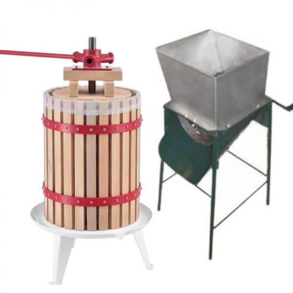 Fruit press and crusher / scratter combo