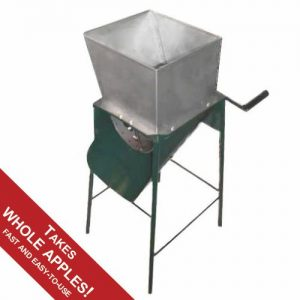 apple scratter with stainless steel drum and hopper