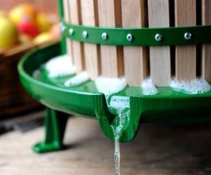 Cast iron apple press - juice tray