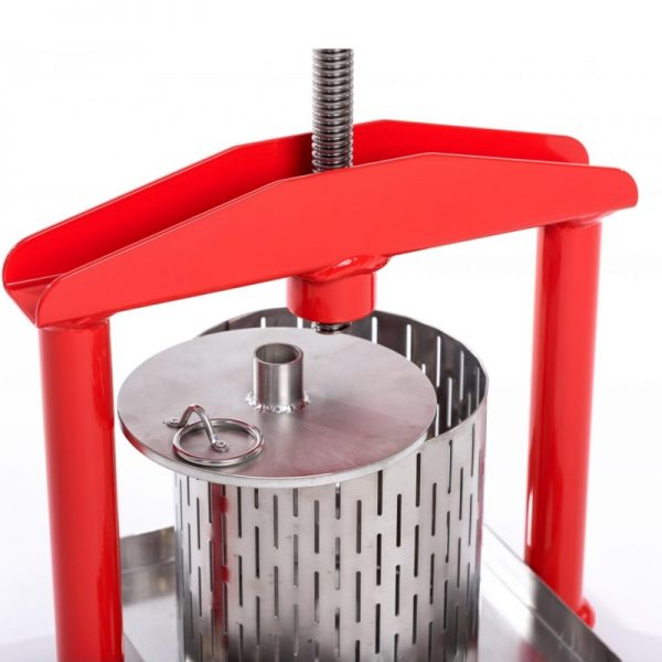 Small stainless steel fruit press APL3S - inox pressing plate