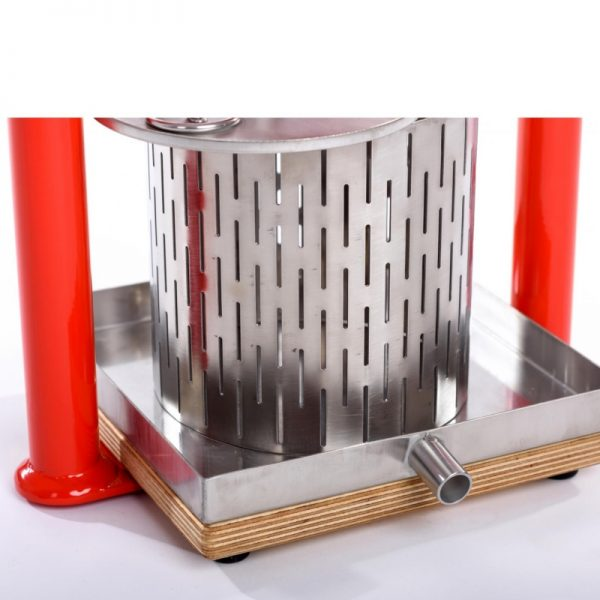 Small stainless steel fruit press APL3S - inox tray