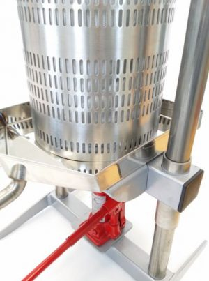 Stainless steel hydraulic apple press 18L - basket