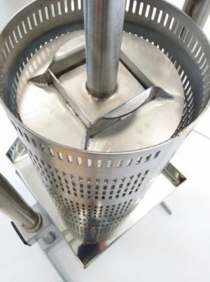 Stainless steel hydraulic apple press 18L