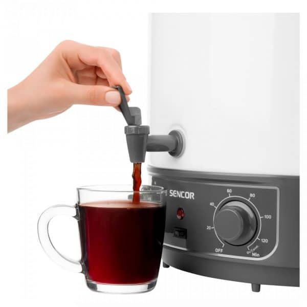 Juice pasteuriser - enamelled - tap