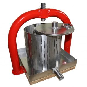 Small crossbeam fruit press - basket, pressing plate and tray