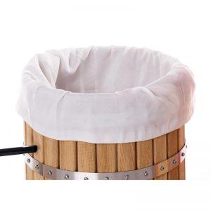 Fine woven straining bag for pressespresses