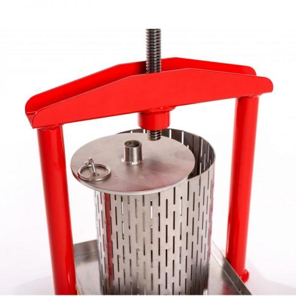 Cross beam mini press APL5S - stainless steel pressing plate