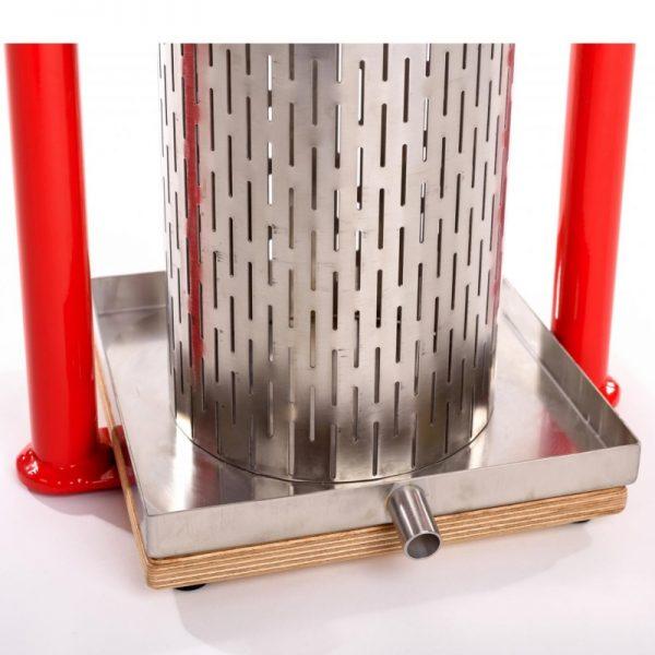 Cross beam mini press APL5S - stainless steel tray