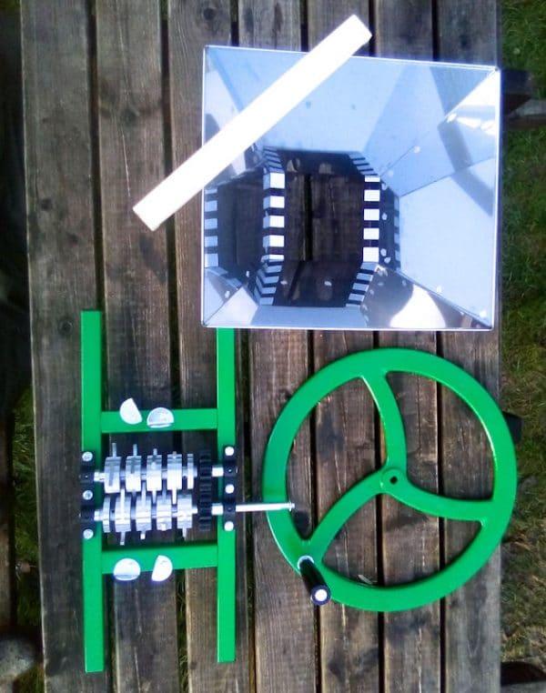 Apple Crusher / Fruit crusher with flywheel - parts