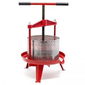 Cross beam fruit press with stainless steel basket 9 l