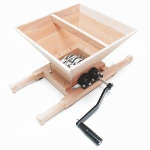 Wooden apple crusher