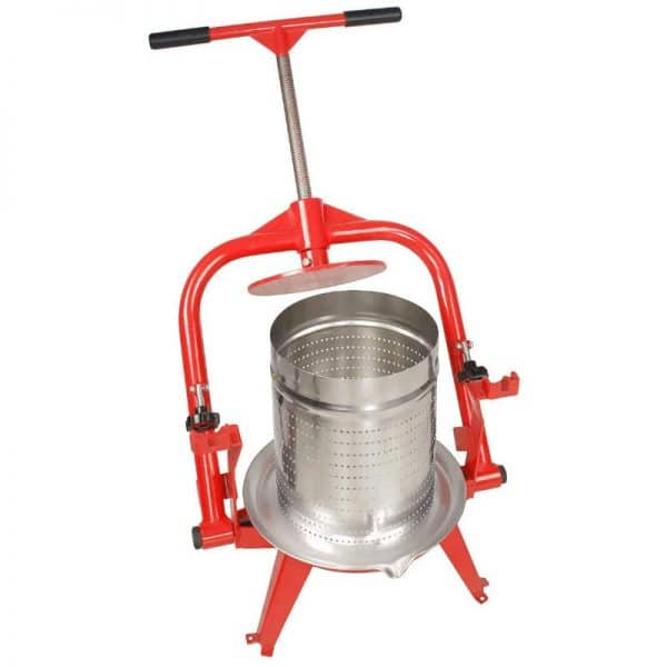 Cross beam fruit press with stainless steel basket and tilt beam LZX19S